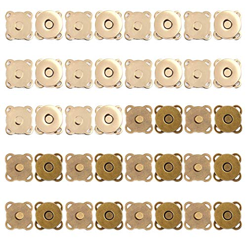 YDYSAA 20 Pezzi Bottone Magnetico da Cucire Chiusura Magnetica Bottoni Automatici Magnetici Bottoni Magnetici per Borse Bottoni Magnetici Fermagli per Borsa, Cappotti, Giacche, Giacche a Vento, Jeans