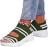 XWCG Sandalias Mujer Cuña Plataforma Verano Cómodos Zapatos Casual Ortopédica para Mujer Zapatillas de Cuña de Verano Zapatillas de Plataforma,Verde,40