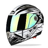 Casco abatible Cascos integrales de moto Casco seguro doble visera Casco Moto Racing Four Seasons Motor Cycle Casco