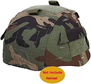 ATAIRSOFT Emerson Airsoft Tactical Helmet Cover for Military MICH 2002 Ver2/ACH Helmet (Woodland Camo)