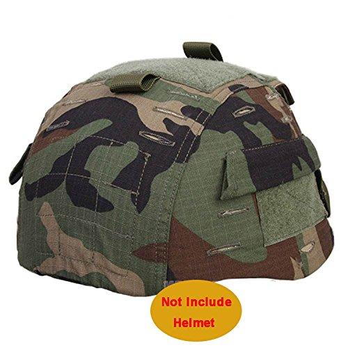 Worldshopping4U mich 2002(Ver2Gamuza de funda para casco de combate con bolsillo trasero...