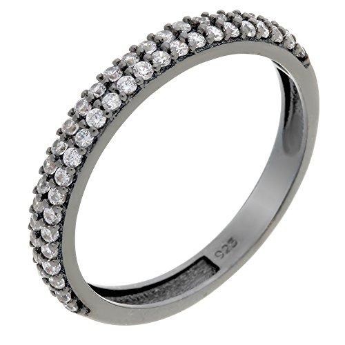 Orphelia Damen-Ring 925 Sterling Silber Zirkonia weiß Gr.52 (16.6) ZR-6011/2/52