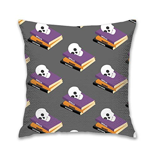 FEDDIY 20X20 Inches Best Gift Linen Throw Pillow Case Personalized Cushion Cover New Home Office Decorative Square Halloween Spell Book
