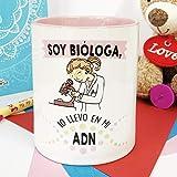 La mente es Maravillosa - Taza Frase y Dibujo Divertido (Soy bióloga, lo llevo en mi ADN) Regalo...