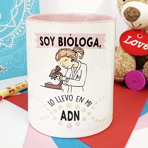 La mente es Maravillosa - Taza Frase y Dibujo Divertido (Soy bióloga, lo llevo en mi ADN) Regalo BIÓLOGA