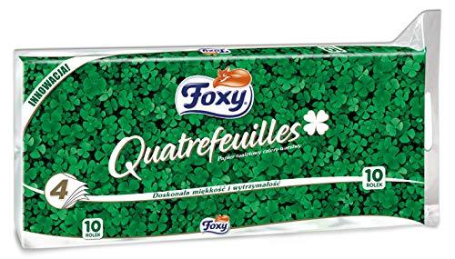 Foxy carta igienica quadrifoglio 4 veli bianca 10 rotoli - 4 cf da 10pz TOTALE 40 ROTOLI