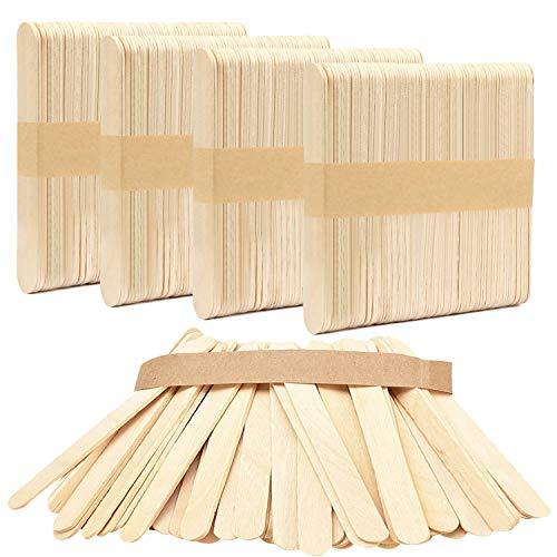 JOINBO 200 Stücke Popsicle Sticks Holzstäbchen Natürliche Craft Sticks Pflanze Etikette Hölzern für Handwerk Hausgemachte DIY Dessert Machen Pflanzen Marker(15 cm x 1,7 cm) …