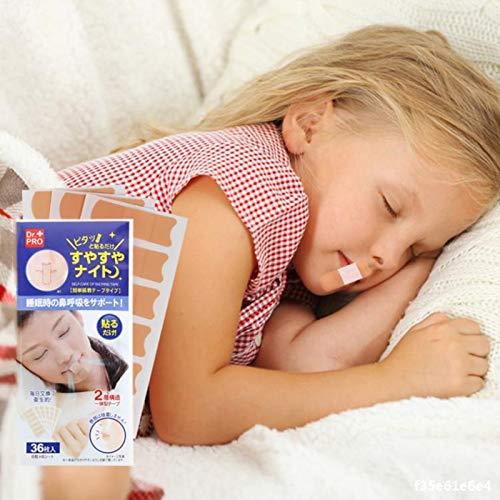 Paquete De 72 Tiras De SueñO Pegatina Tiritas Nasales Antirronquidos para Respirar Mejor De La Boca Nariz Transpirable Dispositivos De Ayuda Para Dormir Para Adultos Y NiñOs