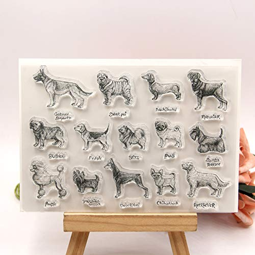 ZFPARTY Dogs Clear Stamps Scrapbook Paper Craft Clear Stamp Scrapbooking