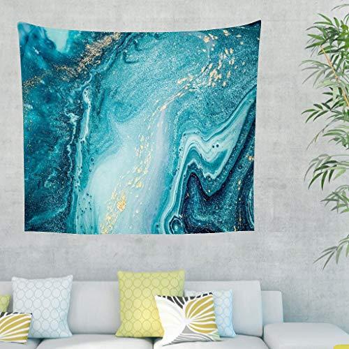 DAMKELLY Store Tapiz de pared Magic Marbling hippie – Manteles grandes para salón blanco 230 x 150 cm
