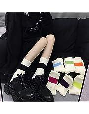 Calcetines de Herramientas de Tubo Mediano, Calcetines Altos de Tubo Largo de Moda, el Mismo Color de párrafo Que combina con el Color Fluorescente para Hombres y Mujeres.