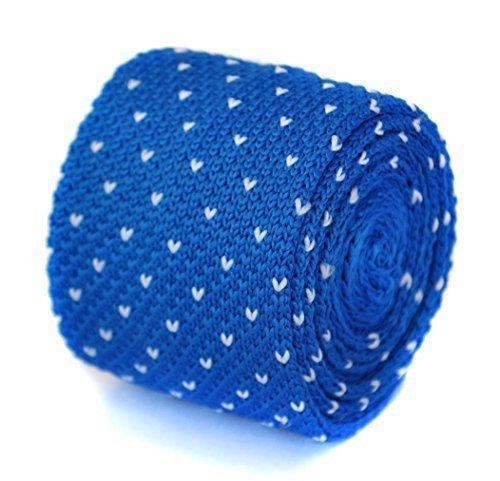 Cravate en tricot Frédéric Thomas bleu roi et blanc