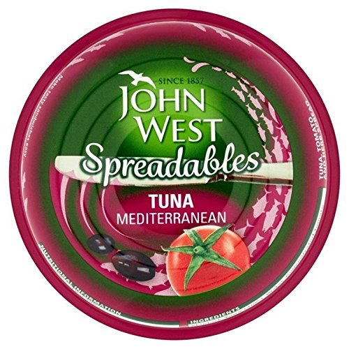 John West Spreadables Tuna Mediterranean 80g - Pack of 2