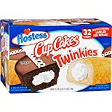 Hostess Twinkies & Cupcakes (16 Twinkies & 16 Cupcakes), Individually Wrapped, 32 Total