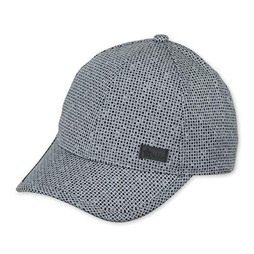 Sterntaler Baseball-Cap für Jungen mit Größenregulierung und Muster mit kleinen Quadraten, Alter: 12-18 Monate, Größe: 49, Rauchgrau
