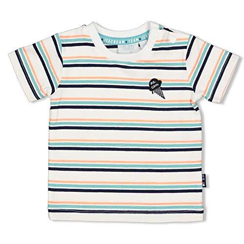 Feetje Camiseta sencilla con rayas de colores de Bio BW Jersey Serie: Team Icecream 0595 White Multi Striped 74 cm