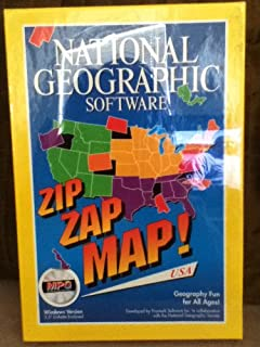 National Geographic Software~Zip Zap Map! USA