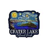 Lantern Press Crater Lake National Park, Oregon, Starry Night National Park Series, Contour 90097 (Vinyl Die-Cut Sticker, Indoor/Outdoor, Large)