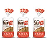 Paleo Thin Sandwich Bread (New) Gluten-Free Low Carb (3 Net Carbs) 6g Protein (16 Slices 1.5 Lbs) (3 Pack)