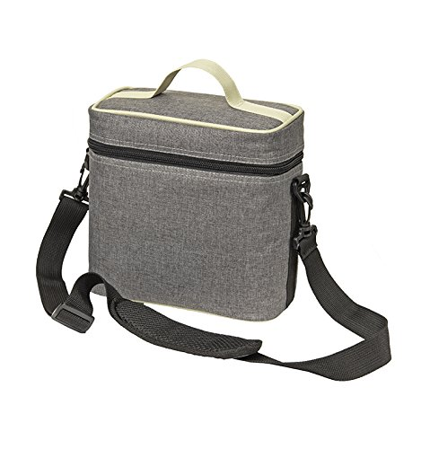BevBag 4R Cubed Drink Carrier with Shoulder Strap and Reusable BevTray! (Tweed, 4-Cup Carrier). Cups not Included