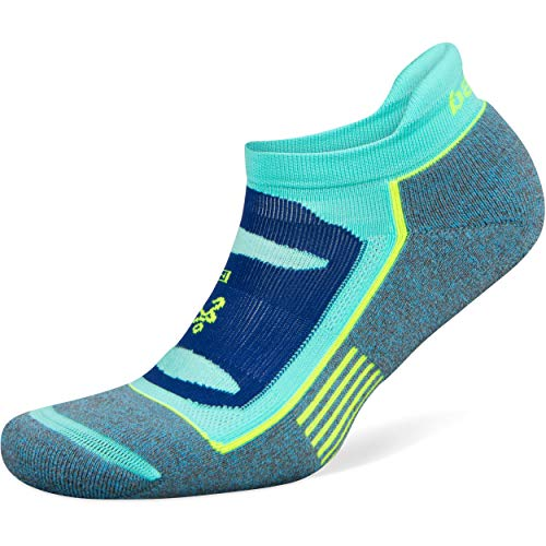 Balega Blister Resist No Show Socks for Men and Women (1 Pair), Ethereal Blue/Light Aqua, Medium