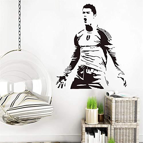 Cristiano Ronaldo Football Star Regalo de cumpleaños Etiqueta de la pared | Decoración para adolescentes Sala de juegos Regalo de cumpleaños