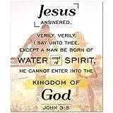 Express Your Love Gifts John 3:5 - Scriptura de lienzo para decoración navideña