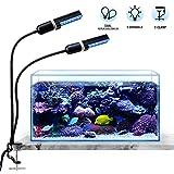 Bozily Iluminación LED para acuarios 45w, luz de acuario Iluminación...