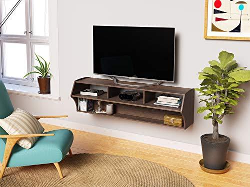 """PREPAC Espresso Altus Plus 58"""" Floating TV Stand"""