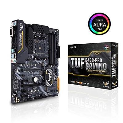 Asus TUF B450-Pro Gaming Motherboard (ATX) AMD Ryzen 3 AM4 DDR4, HDMI, Dual M.2, USB 3.1 Gen 2 and Aura Sync RGB Lighting B450