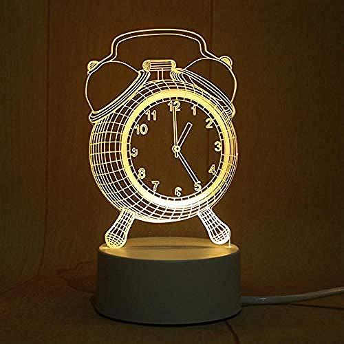 wangzj Nachtlichter Innenbeleuchtung Nachtlampe-Wecker Raumbeleuchtung 3D-Tischlampe Speiselampe Energiesparendes USB-Kindergeschenk