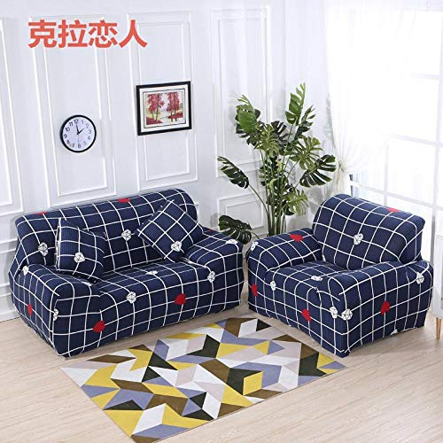 Allenger Funda de Sofá,Funda de sofá elástica, Funda de sofá Antideslizante con patrón Impreso, Funda Protectora antiincrustante para el sofá de la Sala de Estar-Color 2_235-300cm