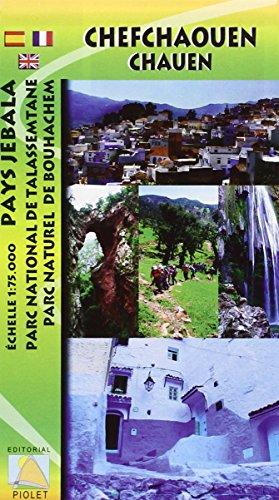 Chefchauen-Pays Jebala. Mapa excursionista. Escala 1:75.000. Editorial Piolet.: Pays Jebala. Parc National de Talassemtane. Parc Naturel de Bouhachem