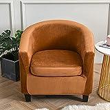 Funda Butaca Chesterfield Terciopelo,Fundas para Sillones 1 Plaza Elásticas Tub Chair Cover Cubierta Universal Lavable Antideslizantes Fundas Protector de Butaca Elegante (Color : #11, Size : 1pc)