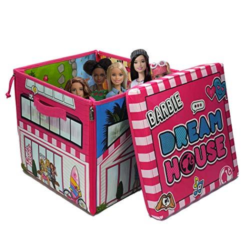 Mattel A1465XX - La casa dei sogni di Barbie, scatola con cerniere, da trasformare in piano di gioco