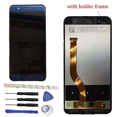 """Draxlgon Écran Compatible avec Huawei Honor 8 Pro DUK-L09 DUK-AL20 DUK-TL30 / Honor V9 5.7"""" Assemblée de numériseur d'écran Tactile Ecran LCD (Bleu avec Cadre)"""