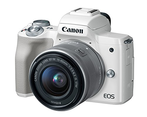 Canon EOS M50 Mirrorless Vlogging Camera Kit with EF-M 15-45mm Lens, 4K Video, Built-in Wi-Fi, NFC and Bluetooth Technology, White