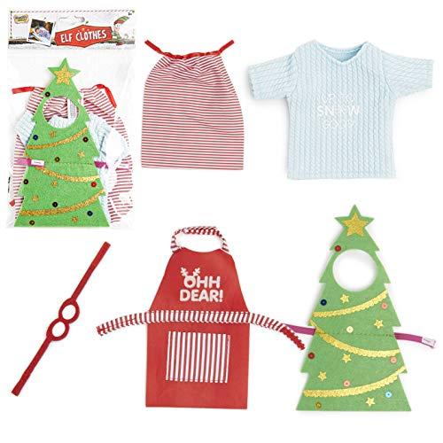 Noël Naughty Elf Party Prop X4 Baby Elfes /& Table Elfes Behavin mal Jouet