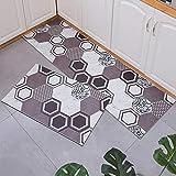 Alfombra de Pasillo, Alfombras Vinilo Pasillo, Diseño Geométrico para el Pasillo, Corredor, dormitorios, Sala de Estar y/o Cocina - 80x340cm
