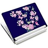 Laptop-Aufkleber für Laptops von Toshiba, HP, Samsung, Dell, Apple, Acer, Leonovo, Sony, Asus, Laptops (Schmetterlinge & Blumen)