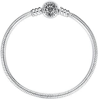 Jewelry - 19 cm Round Clip Classic Bracelet - 925 Sterling Silver - Fits Pandora Charm
