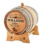 Personalized - Custom Wine Oak Aging Barrel - Barrel Aged (2 Liters)