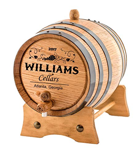 Personalized - Custom Wine Oak Aging Barrel - Barrel Aged (3 Liters)