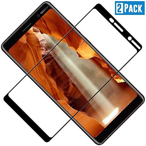 TOCYORIC Panzerglas Bildschirmschutzfolie für Nokia 7 Plus, Vollständige Abdeckung, Ultra Dünn HD Transparenz Anti-Öl, Anti-Kratzer, Blasenfrei, 9H Gehärtetes Glas für Nokia 7 Plus, 2 Stück