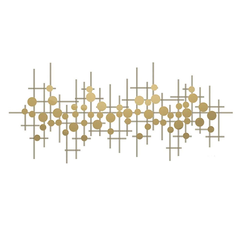 セーター爪賞賛するQINQIWDH 高度なメタルウォールアート彫刻 - 大抽象パターングリッド壁の装飾ホームデコレーション