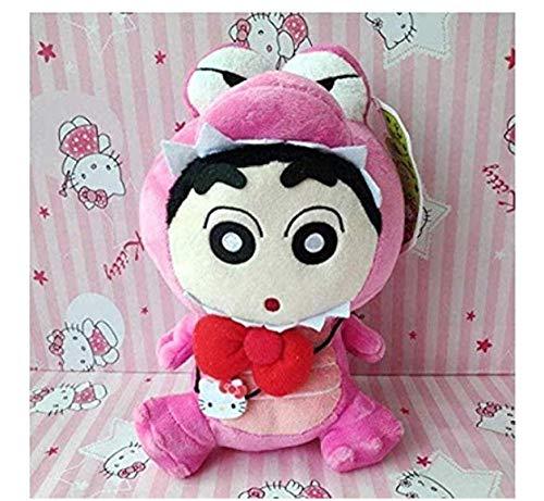 stogiit Juguete de Peluche Crayon Little New y Hello Kitty Transformado Bolsa de cocodrilo Resaca Muñeca Mochila Llavero 29 cm