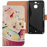 Lankashi PU Flip Leder Tasche Hülle Hülle Cover Schutz Handy Etui Skin Für HTC Bolt/HTC 10 Evo 5.5