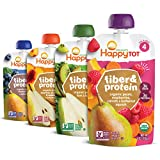 Happy Tot Organic Stage 4 Fiber & Protein 4 Flavor Variety Pack (Pack of 16)