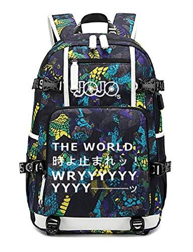 YOYOSHome JoJo's Bizarre Adventure Cosplay Luminous Daypack Rucksack Schultasche mit USB-Ladeanschluss, Blau 3 (Blau) - yyyo3