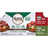NUTRO Adult High Protein Natural Grain Free Wet Dog Food Cuts in Gravy Simmered Beef & Potato Stew...